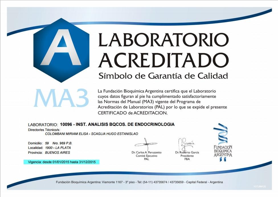 Acreditación MA3